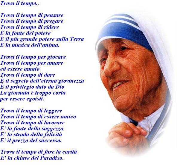 Favoloso Trova il tempodi Madre Teresa di Calcutta | Parrocchia San  IB35